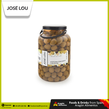 Spanish Gordal Whole and Pitted Green Jumbo Olives 410-500 Wholesale | Jose Lou