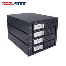 TOOLFREE 3.5 inch 4 Bay SAS 12G SATA 6G Mobile Rack SSD/HDD Cage Enclosure Hot Swap
