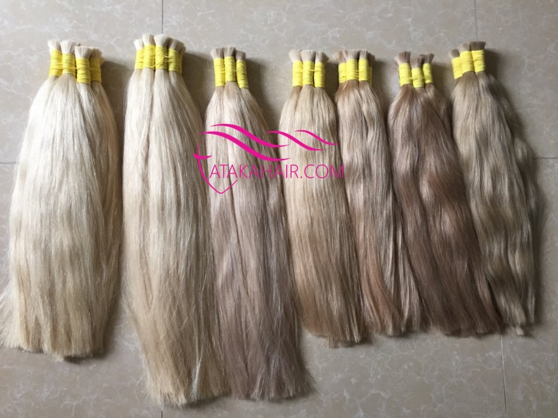 Not yellow shade color hair extension Vietnamese human hair
