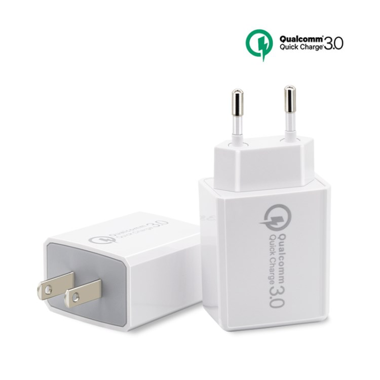 2 in 1 Dual USB Wall Travel Charger 18W with QC 3.0 Wall Charger 5V3A 9V2V 12V1.5A