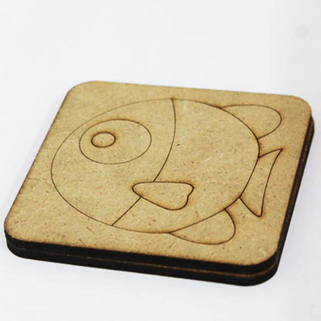Wooden Craft Coaster DIY Paint Decorate Gift Activity for Kids