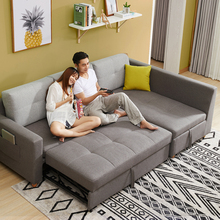 Modern Style Sofa Bed sofa_beds Sleeper Fabric Convertible Sofa Set Living Room Couch Bed Sleeper Chaise Lounge <strong>Furniture</strong>