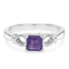 Popular 0.52 ct 925 Sterling Silver pink tourmaline amethyst jewelry diamonds ring cheap promise princess crown rings