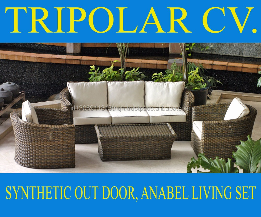 Anabelle Rattan Living Set