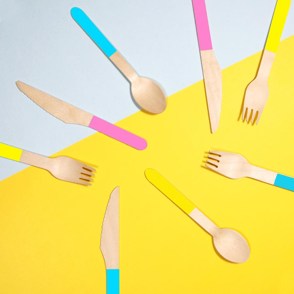 Patterned wooden utensils,wooden spoons forks knives disposable wooden cutlery