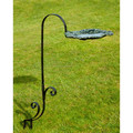 Leaf Shaped Bird Bath With Stand | Metal Bird Feeder Stand | Ground Bird Feeder