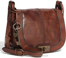 Fossil Brown Leather Crossbody Bag,new Brown Leather Hand bags for Ladies