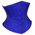 Blue Cotton Waspie Corsets With Double Steelboned Supplier