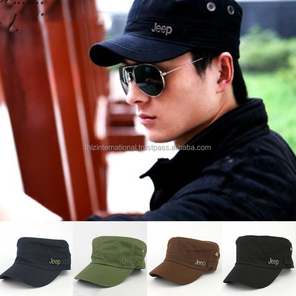 HOT New Freestyle Army Shading Jeep Flat Cap Sun Hat Baseball Cap Sport Military