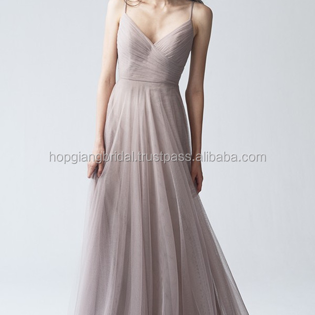 HOT Soft Tulle Wedding Bridesmaid Dress Patterns 2017 Romantic Sweep