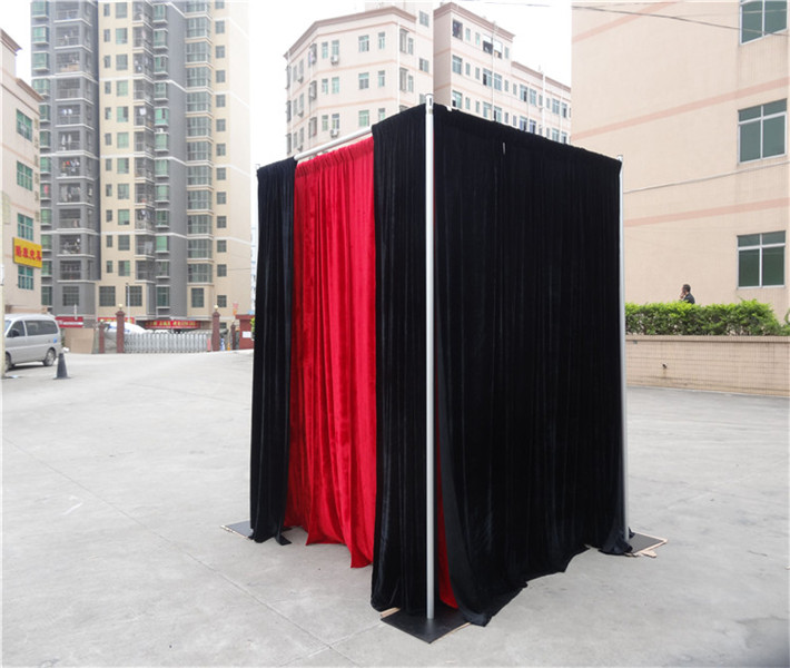 Used pipe drape curtain | free standing photo booth for sale
