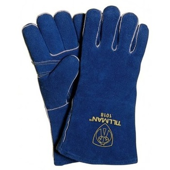 Leather and Welted Fingers Welding Gloves - 16 Inch for Mig, Tig Welders, BBQ, Gardenin