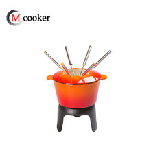 Hot Sale Enamel Chocolate Fondue Besi Cor Cheese Fondue Set
