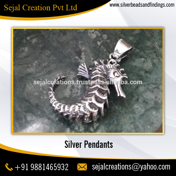 Wholesale Vintage Sea Horse Silver Pendant / Animal Pendant
