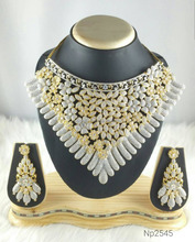 American diamond Cubic Zircon bridal necklace set for women- Indian jewelry wholesale- Latest jewelry online