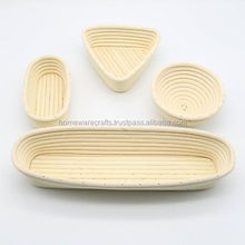 Wholesale full shape banneton basket/banneton baking bowls round long square oval triangle