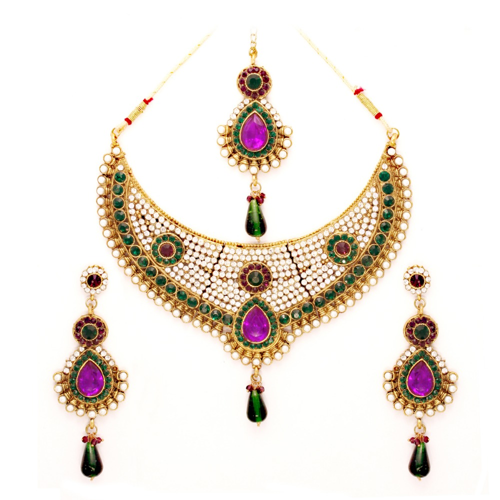 Vendee Fashion Traditional Wear Necklace Jewelry (7081)