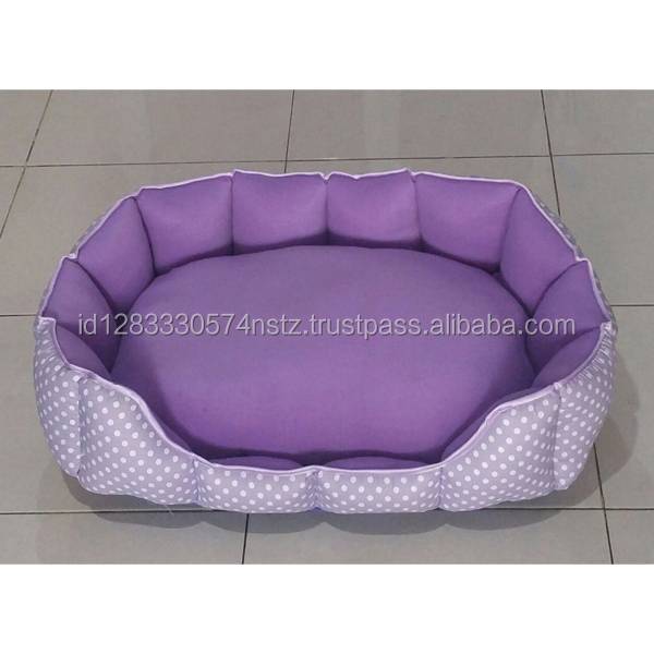 comfortable cotton purple pet bed for cat and dog