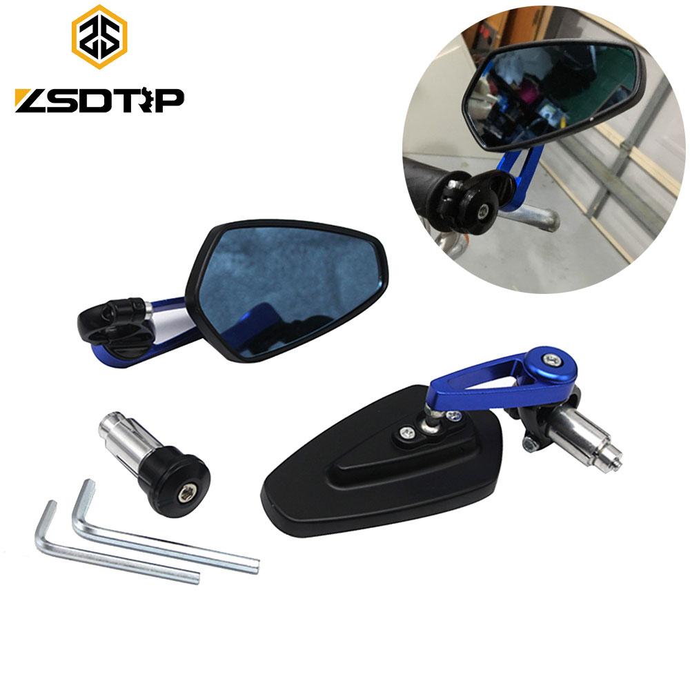 "1Pair  Black Motorcycle Moto 7//8/"" 22mm Handle Bar End Rearview Side Mirrors"