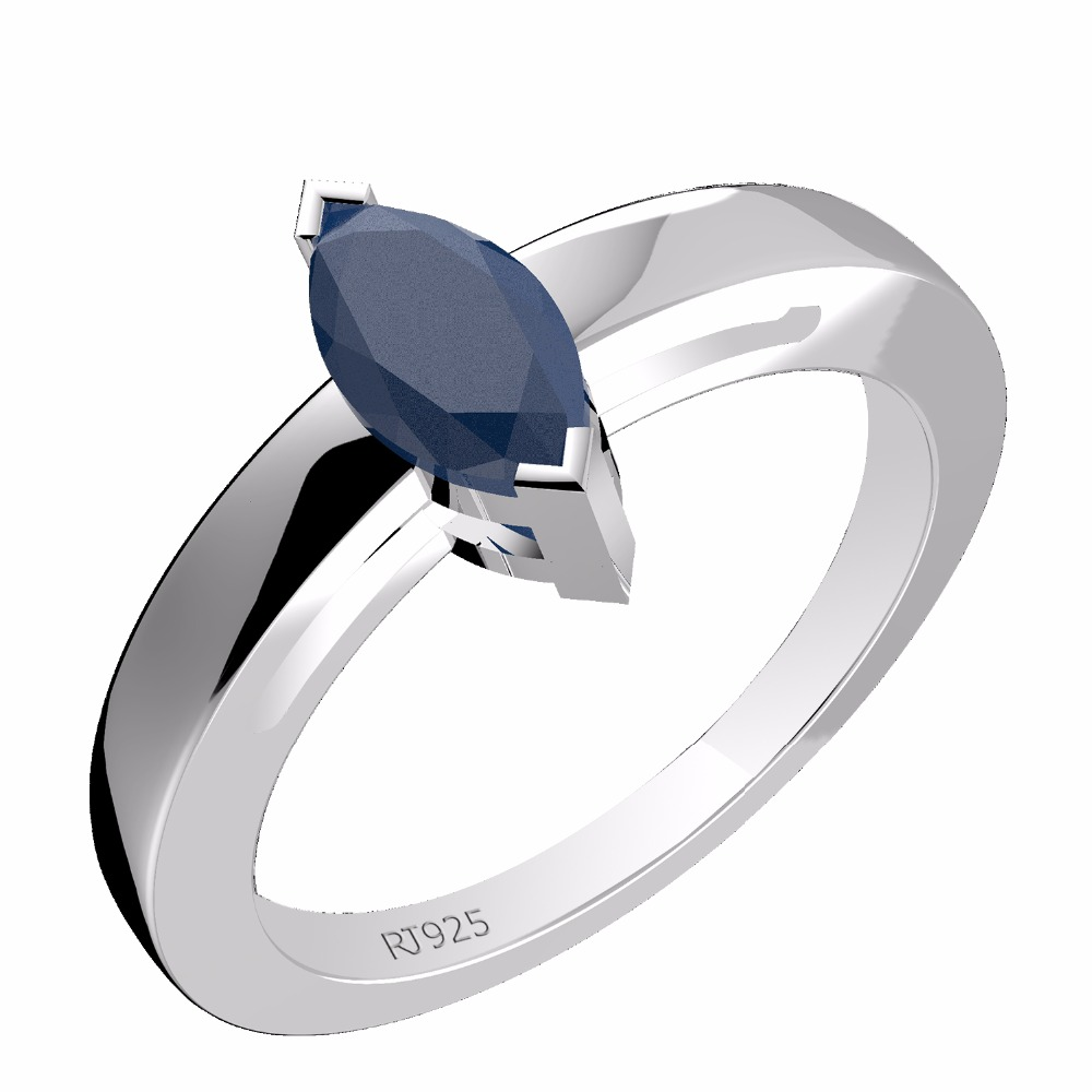 gemstone jewelry india, 0.65ctw Genuine Blue Sapphire Gemstone Ring, sterling silver 9.25 jewelry