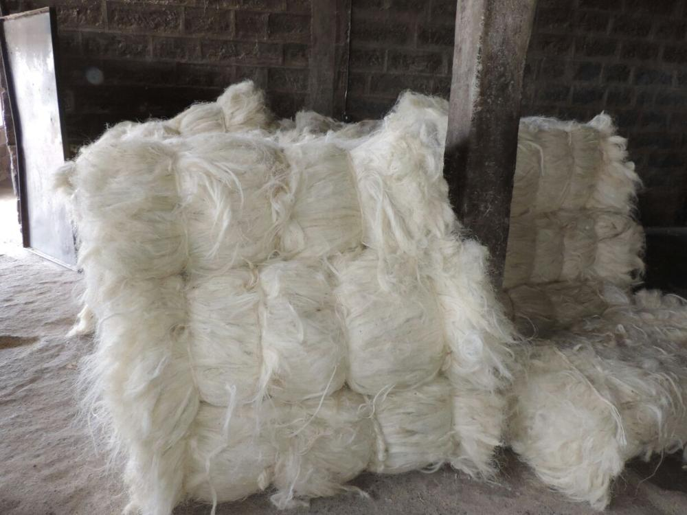 Best price! 100% natural baled bleached sisal fiber/Gypsum Sisal Fiber