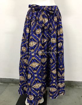 Latest African Print 8 Panel Long Maxi Skirt
