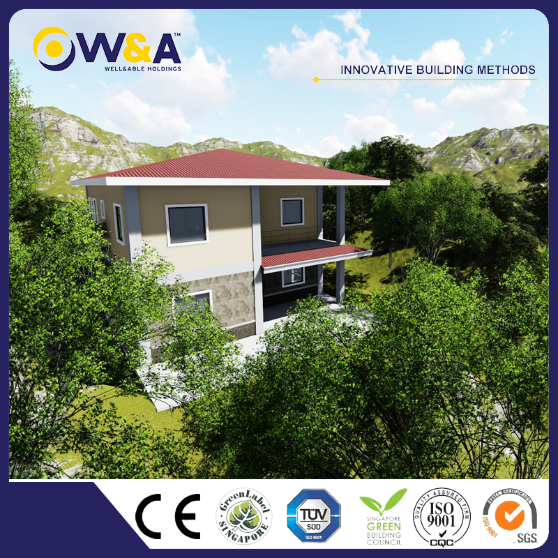 (WAD4003-205M)China Prefab Modren Homes Manufacturers Affordable Prefab Townhouse