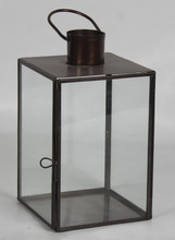 Iron floor Standing lanterns metal candle holders