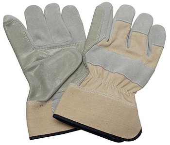 Cow Split Leather Double Palm Fitter Work Gloves