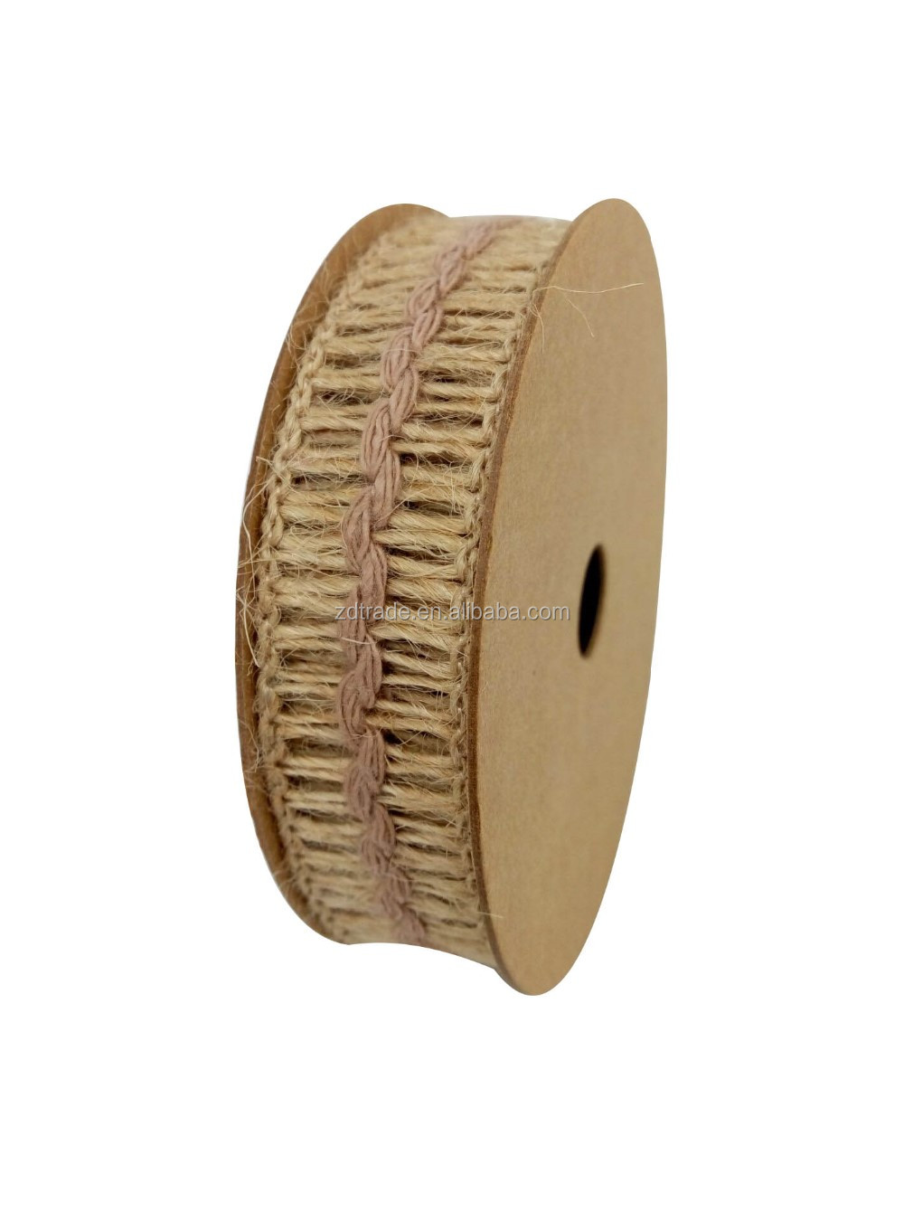 2017 Jute Ribbon with cotton yarn Gift ribbon Gift wrapping