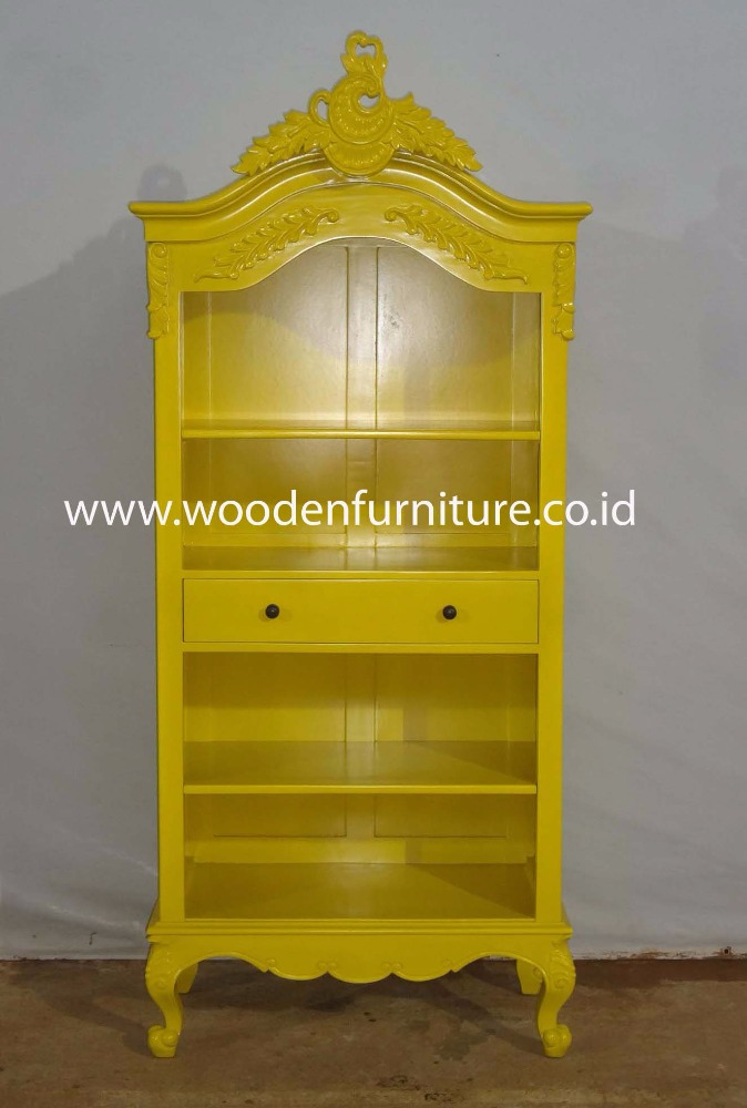 French Style Bookcase Office Furniture Antique Home Furniture