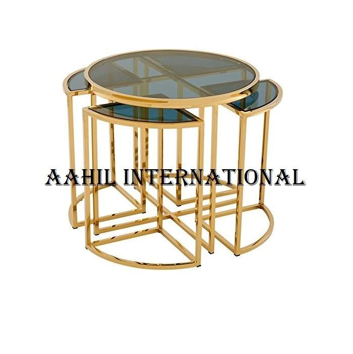 COFFEE TABLE GOLD LEGS