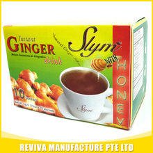 Yellow instant honey ginger tea