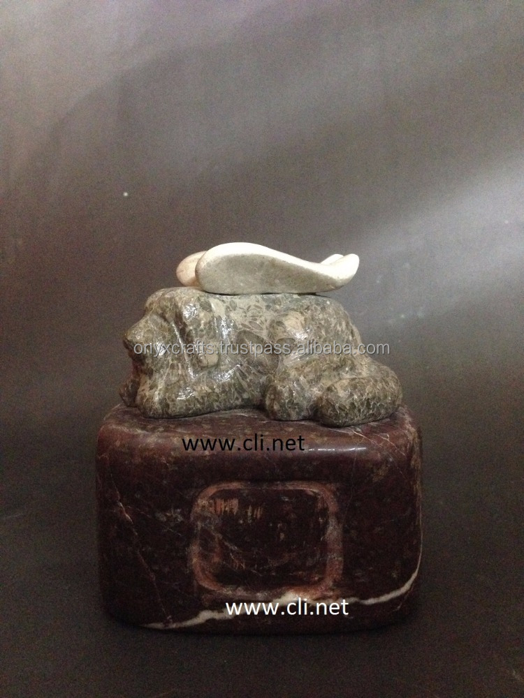 Marble Sculptured Dog Cremation Urns in Wholesale