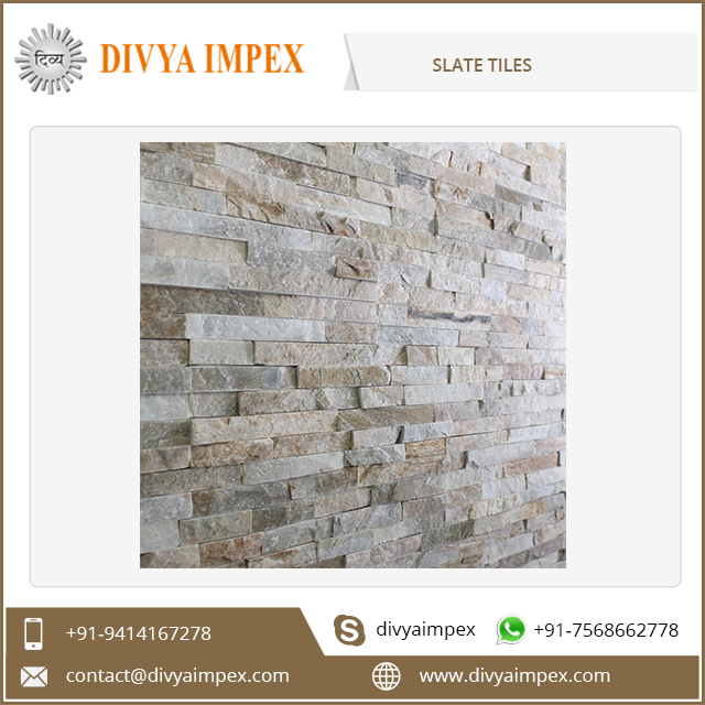 India Indoor Outdoor Slate Tile Natural and Polished Rusty Slate Tile