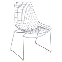 Chevalier | Restaurant Decoration | RWC - 01165 | White Wire Chair | Turnkey Project Services