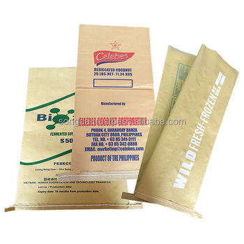 3 layers PP woven laminated 25 kg kraft paper bag