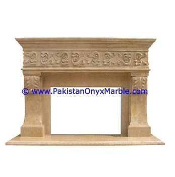 MARBLE FIRE PLACES BEIGE CREAM MARBLE