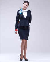 Neat Style Ladies Formal Uniforms Suits Blouse Jacket Skirt