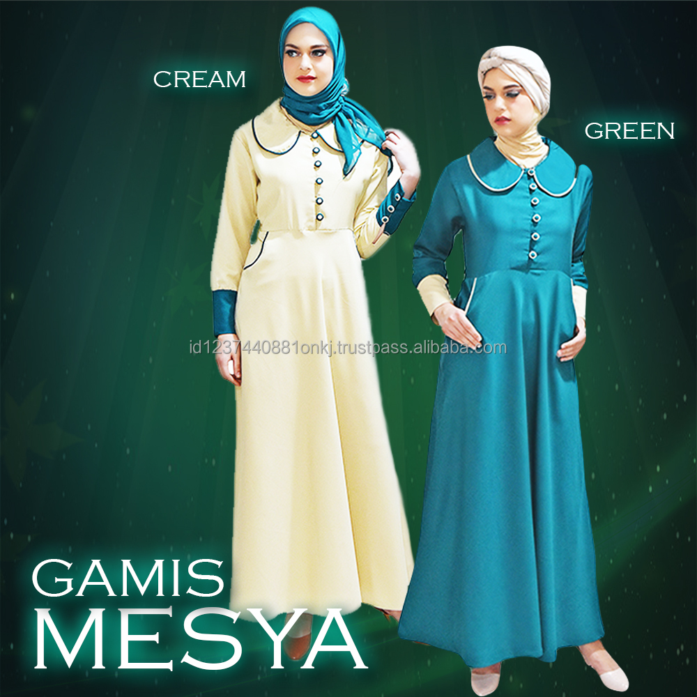 Best Collection 2017 Gamis Green Mesya Islamic Clothing