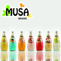 Basil Seed Drink Juice Glass bottle 290ml MUSA Brand