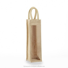 Ecofriendly 4 Bottle Wine Gift Bag Jute/ Burlap Reusable Carry Tote Green Bags