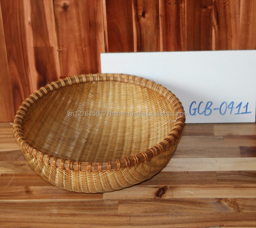 Cheap storage basket used for sundries, food made of bamboo/ bamboo basket