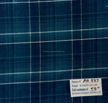 100 cotton green plaid check fabric