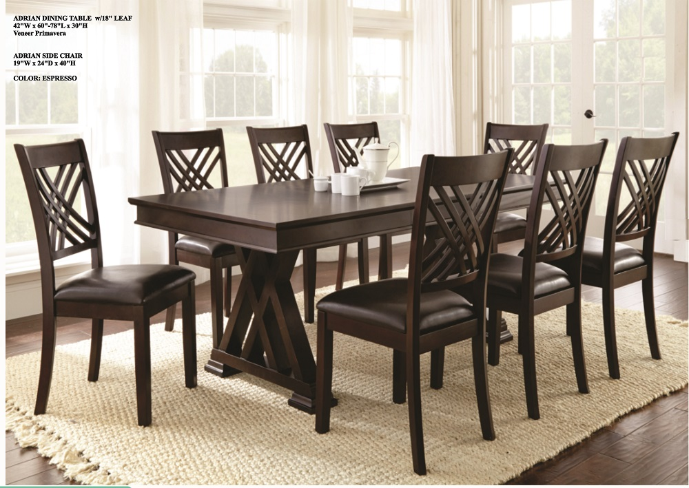 8 Seaters Wood Dining Table And Chair Set