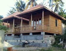 Simple Solid Teak Wood Prefabricated House or Hotel Plans Indonesia product