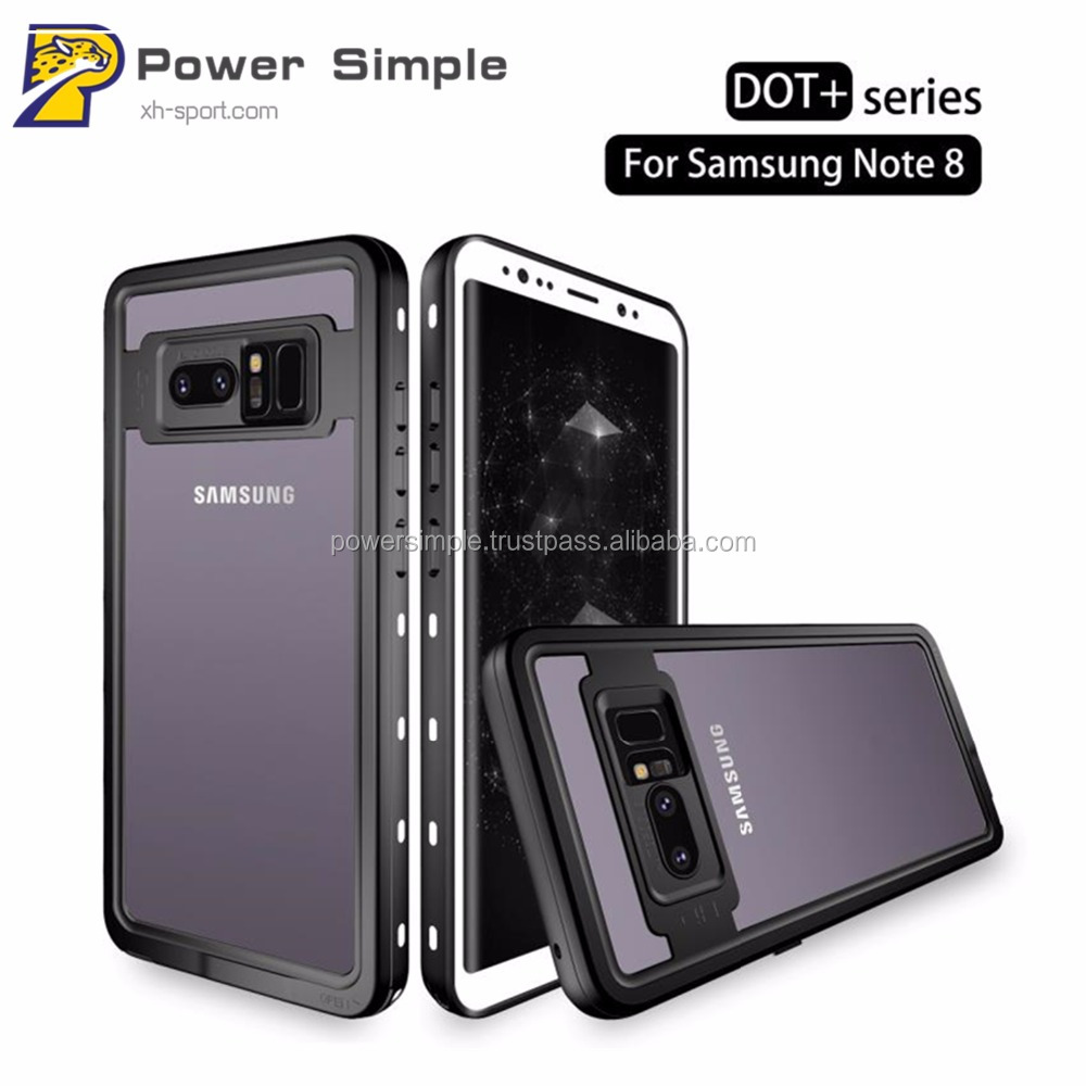Wholesale High Quality Transparent Waterproof Phone Case for Samsung Note 8