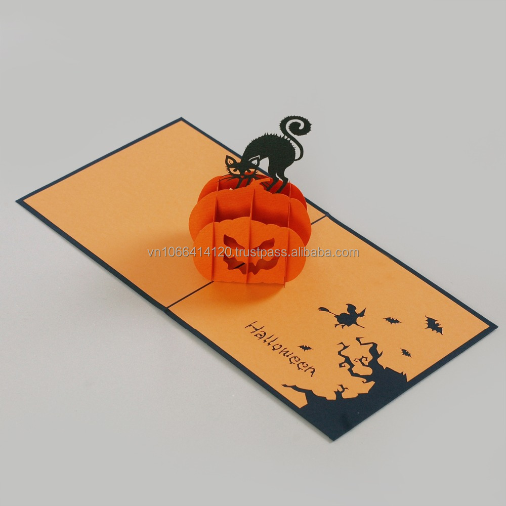 Halloween day pop up greeting card Christmas season card Love card