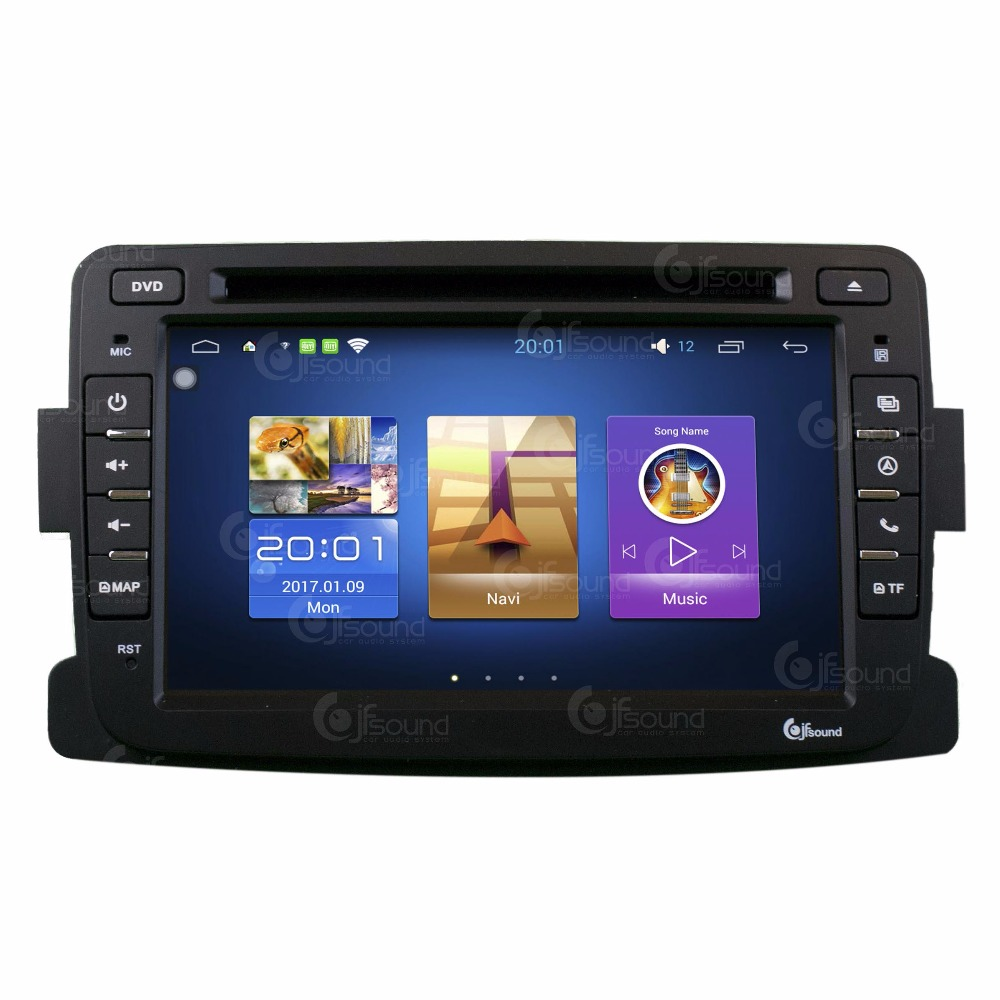 AUTORADIO FOR DACIA DUSTER DOKKER SANDERO LOGAN ANDROID 7.1 GPS BLUETOOTH MIRROR LINK OCTACORE JFSOUND