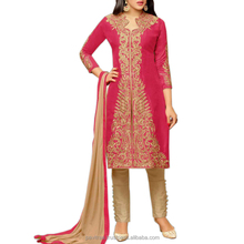 Pink Color Stone Work Two in One Salwar Suit